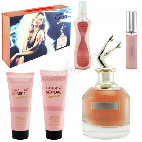 ست هدیه زنانه ژان پل گوتیر اسکندال کارلوتا ادو تویلت و لوسیون مدل CARLOTTA Scandral Gossip Jean Paul Gaultier Scandal