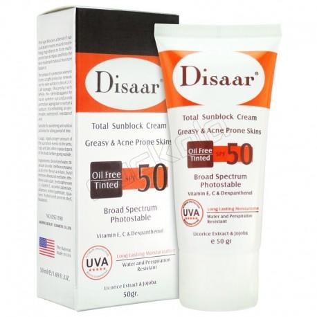 کرم ضدآفتاب دیسار برای پوست چرب وضدآکنه DISAR SPF50