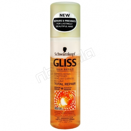 اسپری دوفاز گلیس مدل Total Repair حجم 250 میلی لیتر Gliss Total Repair with Liquid Keratin Hair Spray