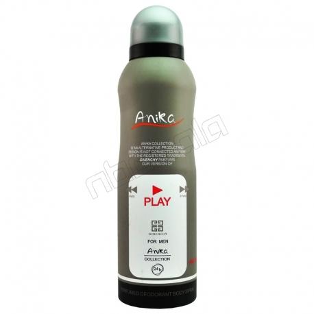 اسپری خوشبو کننده بدن آنیکا مردانه مدل پلی جیونچی حجم 200 میلی لیتر Anika PLay Givenchy Body Spray For Men