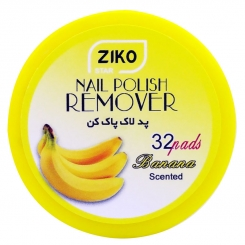 پد لاک پاک کن زیکو مدل کاسه ای با عطر موز 32 عددی Ziko Star Nail Polish Remover Pad Banana Scented 32 pads