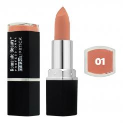 رژ لب جامد رمانتیک بیوتی مات مدل L80779 تستردار شماره 01 Romantic Beauty Professional Matte Lipstick