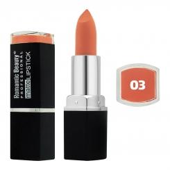 رژ لب جامد رمانتیک بیوتی مات مدل L80779 تستردار شماره 03 Romantic Beauty Professional Matte Lipstick