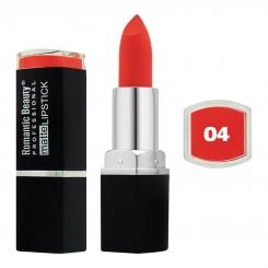 رژ لب جامد رمانتیک بیوتی مات مدل L80779 تستردار شماره 04 Romantic Beauty Professional Matte Lipstick