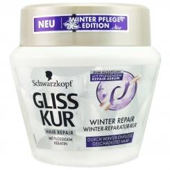 ماسک مو گلیس شوآرتسکوف ترمیم مو کراتینه زمستانه Schwarzkopf Gliss Kur Winter Repair Keratin 300ml Hair Repair