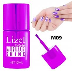 لاک ناخن آینه ای لیزل شماره 09 Lizel Nail Polish Mirror Shine 12 ml