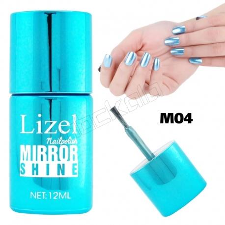 لاک ناخن آینه ای لیزل شماره 04 Lizel Nail Polish Mirror Shine 12 ml