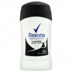 مام رکسونا صابونی مردانه زنانه اینویزیبل بلک وایت 48 ساعته بادوام Rexona Deodorant Invisible Black & White 40 ml
