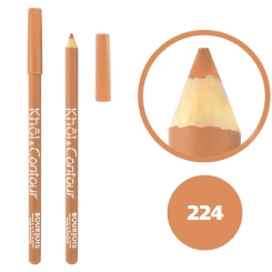 خط چشم خط لب خل اند کونتور بورژوآ ضدآب شماره 224 Bourjois Khol & Contour Waterproof Eyeliner Lipliner Pencil