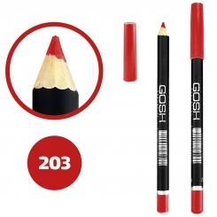 خط چشم خط لب گاش ضدآب شماره 203 Gosh Waterproof Eyeliner Lipliner Pencil