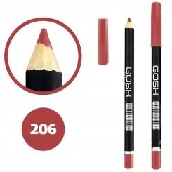 خط چشم خط لب گاش ضدآب شماره 206 Gosh Waterproof Eyeliner Lipliner Pencil