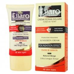 کرم ضدآفتاب الارو SPF 50 رنگ بژ طبیعی Ellaro Sunscreen Cream