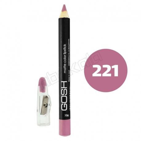 رژ لب مدادی گاش مدل مداد خط چشم و خط لب ضدآب شماره 221 Gosh Lip Liner & Eye Liner Waterproof Pencil