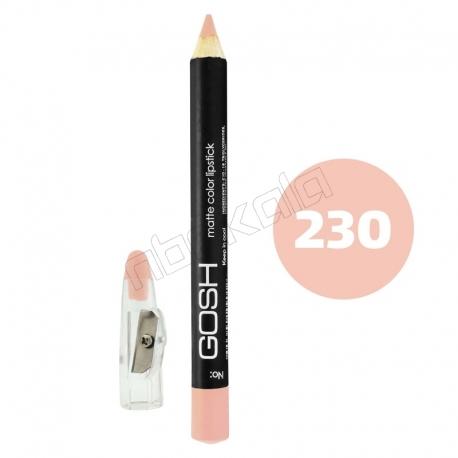 رژ لب مدادی گاش مدل مداد خط چشم و خط لب ضدآب شماره 230 Gosh Lip Liner & Eye Liner Waterproof Pencil