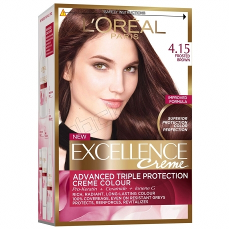 رنگ موی لورآل سری Excellence شماره 4.15 L'Oreal Excellence Hair Color Kit No