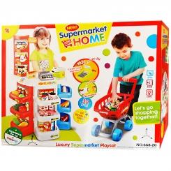 ست اسباب بازی سوپر مارکت دسرت با چرخ خرید ارجینال خارجی مدل 20-668 Dessert shop play