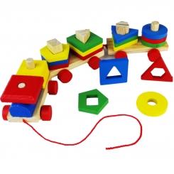 اسباب بازی فکری جاگذاری قطار چوبی خارجی Puzzle Train