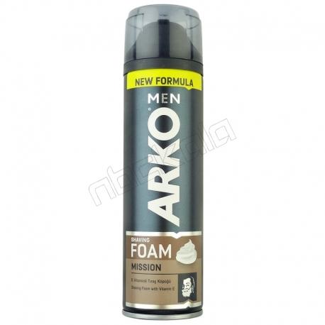 فوم اصلاح آرکو مدل MISSION حجم 200 میلی لیتر ARKO MEN MISSION Shaving Foam 200ml