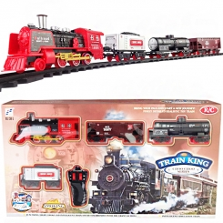 اسباب بازی قطار کنترلی دودزا و صدادار برند LCF مدل 5-138