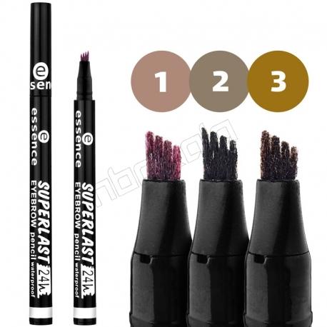 مداد هاشور ابرو اسنس مدل SUPERLAST ضدآب essence Superlast 24h Waterproof Eyebrow Pen