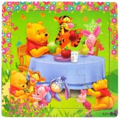 پازل چوبی پو 15 در 15 سانت خارجی Winnie the Pooh Puzzle XIY-013