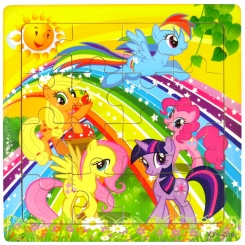 پازل چوبی پونی 15 در 15 سانت خارجی My Little Pony Puzzle XIY-016
