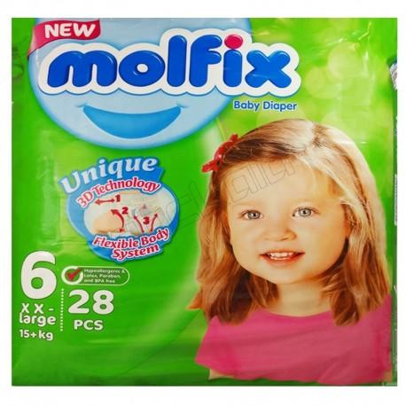 پوشک سایز6 جدید کودک ونوزاد مولفیکس دوبل