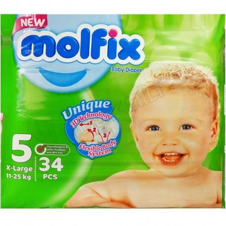 پوشک سایز5 جدید کودک ونوزاد مولفیکس دوبل