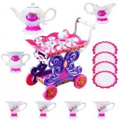 اسباب بازی ست چای خوری و چرخ دستی چای ژیونگ چنگ مدل Beauty Tea Cart Set 008-36A