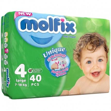 پوشک سایز 4 جدید کودک و نوزاد مولفیکس دوبل