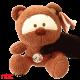 عروسک خرس کاتن پولیشی BEAR WITH CUTTON