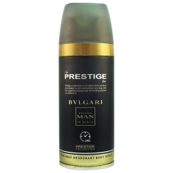 اسپری خوشبو کننده بدن پرستیژ مردانه شماره 106 مدل بولگاری من این بلک حجم 150 Prestige Bvlgari Man In Black Body Spray For Men