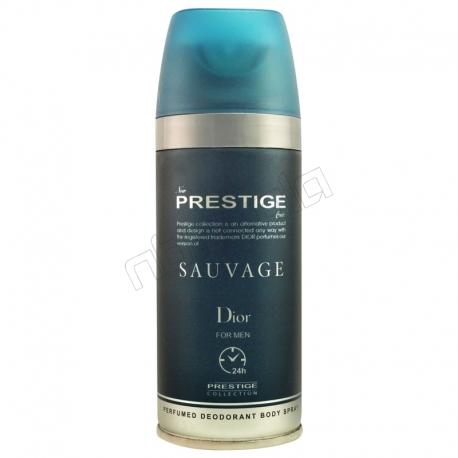 اسپری خوشبو کننده بدن پرستیژ مردانه شماره 104 مدل دیور سواژ حجم 150 میلی لیتر Prestige Dior Sauvage Body Spray For Men 150 ml