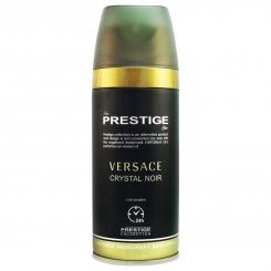 اسپری خوشبو کننده بدن پرستیژ زنانه ش 201 مدل ورساچه کریستال نویر حجم 150 Prestige Versace Crystal Noir Body Spray For Women