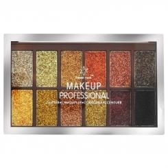 پالت سایه چشم سوییت رز مدل اکلیلی شاین شماره 2 Sweet Lady Make Up Professional Glitter Eye Shadow No.2