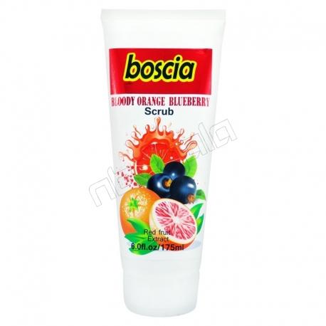 کرم دست و صورت بوسکیا مدل اسکراب لایه بردار پوست و جوان کننده پرتقال خونی و بلوبری Boscia Bloody Orange Blueberry Scrub 175 ml