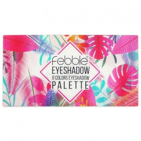 پالت سایه چشم فبل مدل 8 رنگ اکلیلی و مات شماره 1 Febble 8 Colors Eyeshadow Palette No.1