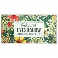 پالت سایه چشم فبل 8 رنگ اکلیلی و مات شماره 02 Febble 8 Colors Eyeshadow Palette No.02