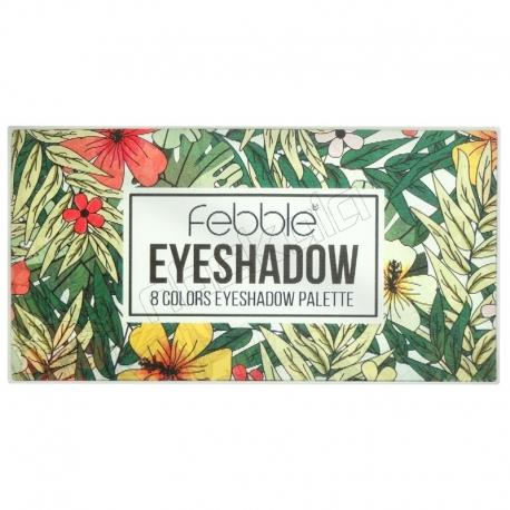 پالت سایه چشم فبل مدل 8 رنگ اکلیلی و مات شماره 02 Febble 8 Colors Eyeshadow Palette No.02