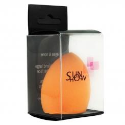 پد تخم مرغی سان هاو مدل نارنجی رنگ برش خورده Sunhow Make Up Sponge Orange Color