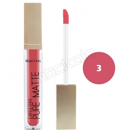 رژ لب مایع مونس کیس مدل ویتامینه ضدآب و با دوام شماره 8082 رنگ شماره 03 Moon's Kiss Waterproof Lip Gloss 24 Hours