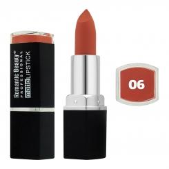 رژ لب جامد رمانتیک بیوتی مات مدل L80779 تستردار شماره 06 Romantic Beauty Professional Matte Lipstick