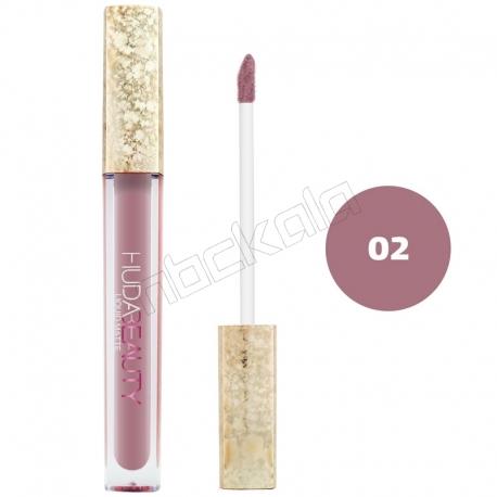 رژ لب مایع هدابیوتی مدل مات مدل لاک لب 24 ساعته شماره 02 Hudabeauty Liquid Matte Lipstick