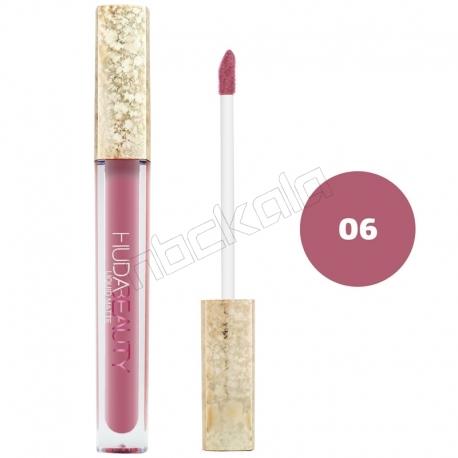 رژ لب مایع هدابیوتی مدل مات مدل لاک لب 24 ساعته شماره 06 Hudabeauty Liquid Matte Lipstick