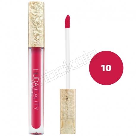 رژ لب مایع هدابیوتی مدل مات مدل لاک لب 24 ساعته شماره 10 Hudabeauty Liquid Matte Lipstick