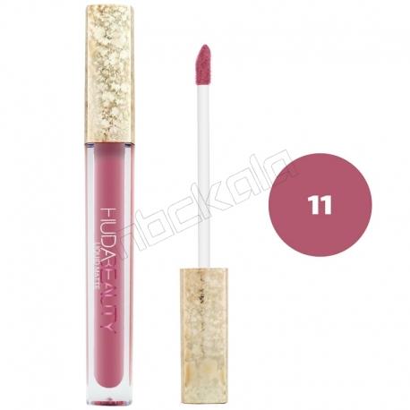 رژ لب مایع هدابیوتی مدل مات مدل لاک لب 24 ساعته شماره 11 Hudabeauty Liquid Matte Lipstick