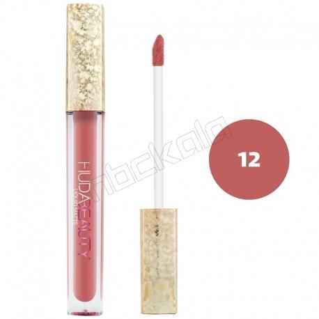 رژ لب مایع هدابیوتی مدل مات مدل لاک لب 24 ساعته شماره 12 Hudabeauty Liquid Matte Lipstick