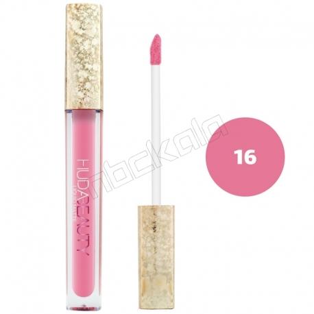رژ لب مایع هدابیوتی مدل مات مدل لاک لب 24 ساعته شماره 16 Hudabeauty Liquid Matte Lipstick