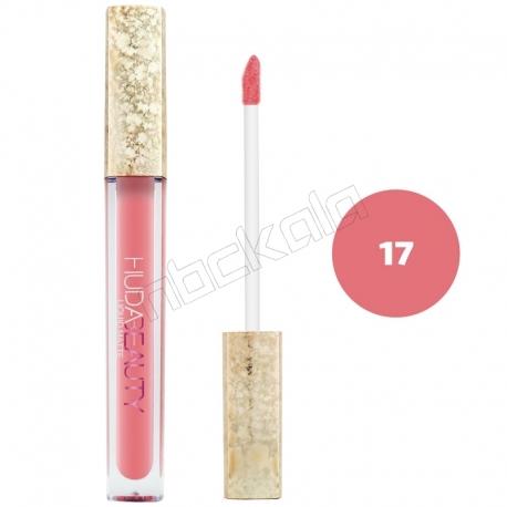 رژ لب مایع هدابیوتی مدل مات مدل لاک لب 24 ساعته شماره 17 Hudabeauty Liquid Matte Lipstick