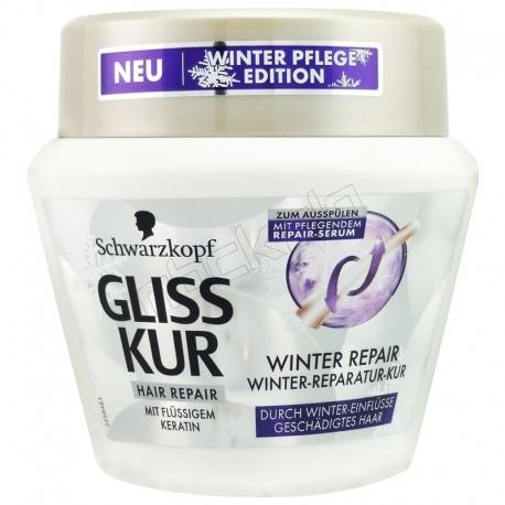 ماسک مو گلیس شوآرتزکوف ترمیم مو کراتینه زمستانه Gliss Winter Keratin Serum Hair Repair 300 ml